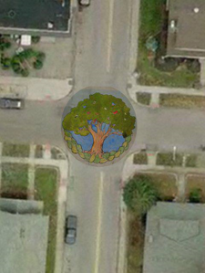 crest mural