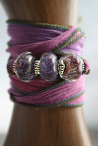 Plum Perfect ribbon bracelet Sweettooth Studio