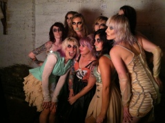 Kelli  (in middle) with her Fashion Mob models