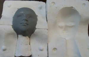 earthenware master mold for head