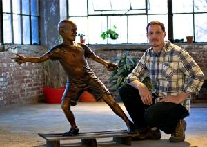 gavin with sculpture