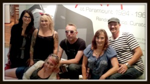 Mobsters Rachel Murdock, Kelli Martin, Amee Bellwanzo and Jefferey Steele with me and photographer, Troy Mueller