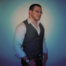 self portrait in vest