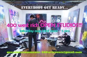 400 open studios