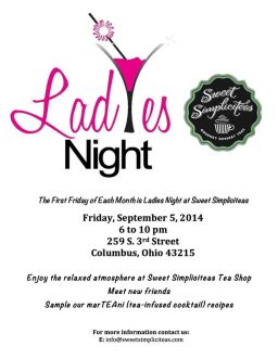 sweet simpliciteas ladies night