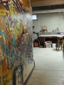 part of his studio