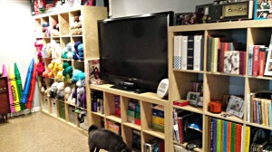 The amazing extension of her studio and yarn stash