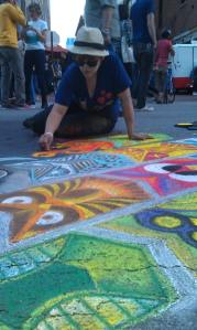 Jen at Chalk the Block 2013